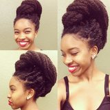 This incredible updo is fabulous from all angles. Source: Instagram user _nappytwists