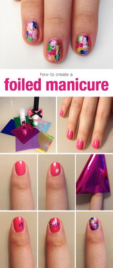 Of course, the DIY beauty mavens fell in love with this step-by-step guide to a foil manicure.