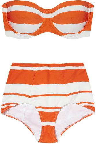 Dolce & Gabbana Striped bandeau bikini
