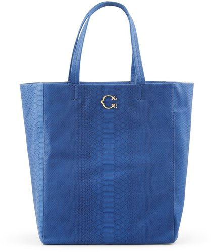 Pop Color Python Embossed Tote