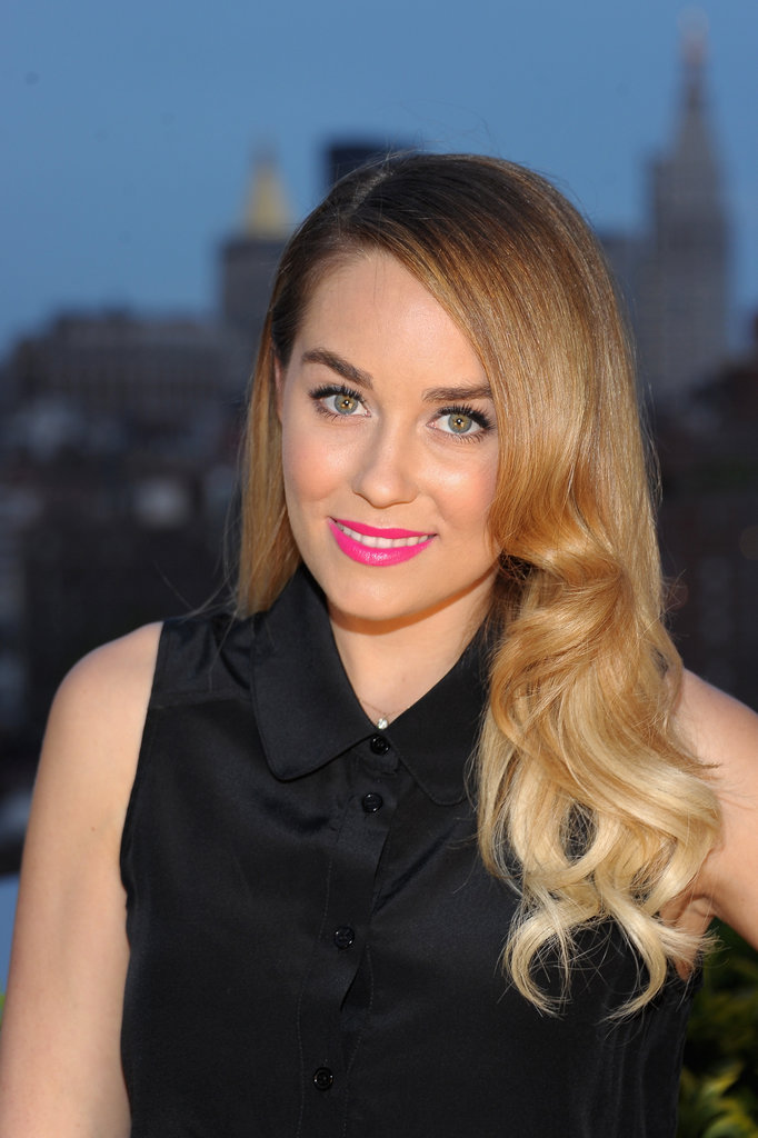 Lauren Conrad's hot pink lips