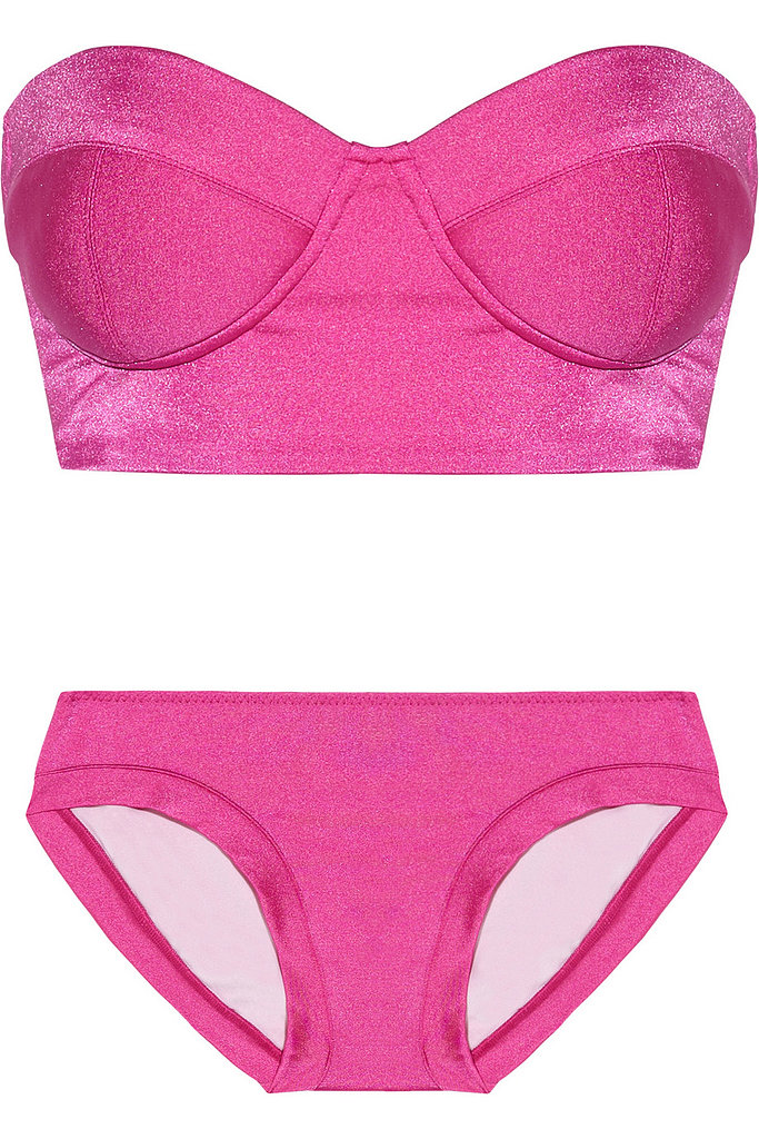 The hot pink hue of this Norma Kamali Modern Vintage bandeau bikini ($380) would look great on any skin tone.