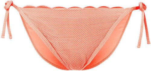 Tangerine Scallop Bikini Pants