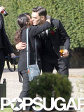 Josh Beech hugged friends at his wedding to Shenae Grimes.