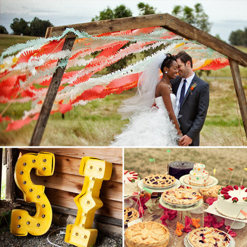 Take a look through this real-life carnival-themed wedding on POPSUGAR Home for tips on styling an eclectic wedding party, keeping guests entertained, crafting your own decor projects, and more!