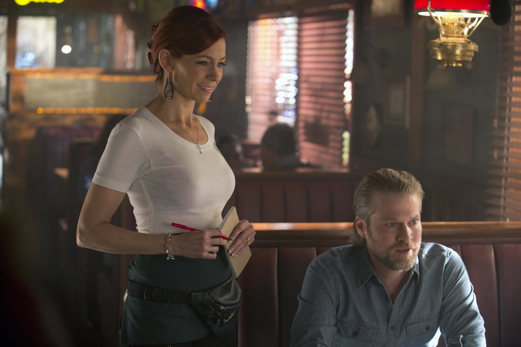 Carrie Preston as Arlene and Todd Lowe as Terry on True Blood.