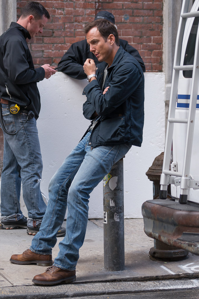 Will Arnett took a break between takes for Teenage Mutant Ninja Turtles in NYC on Tuesday.