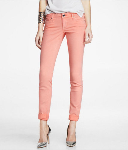 Stella Colored Jean Legging - Neon Coral