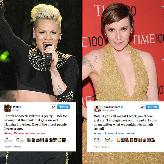 Tweets of the Week: Pink, Lena Dunham, Tom Cruise & More!