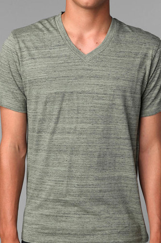 BDG Marble Stripes V-Neck Tee