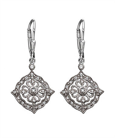 Phyllis Bergman Diamond Shape Antique Earrings
