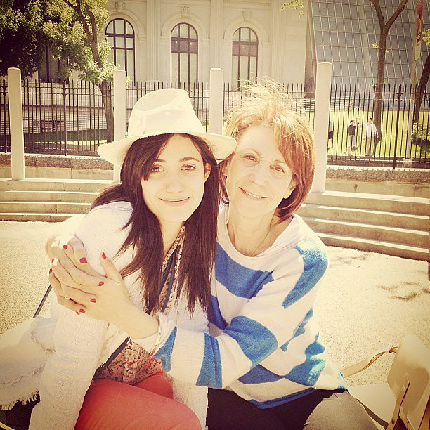 Emmy Rossum spent Mother's Day in the park with her mom. Source: Instagram user emmyrossum