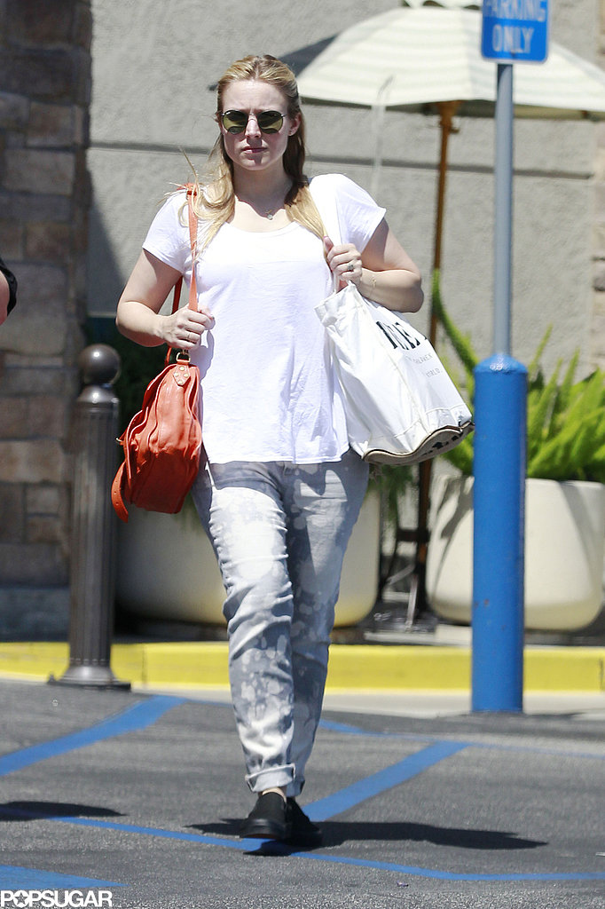 Kristen Bell went shopping in LA on Monday.