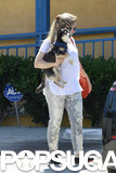Kristen Bell and her dog Shakey were out in LA together on Monday.