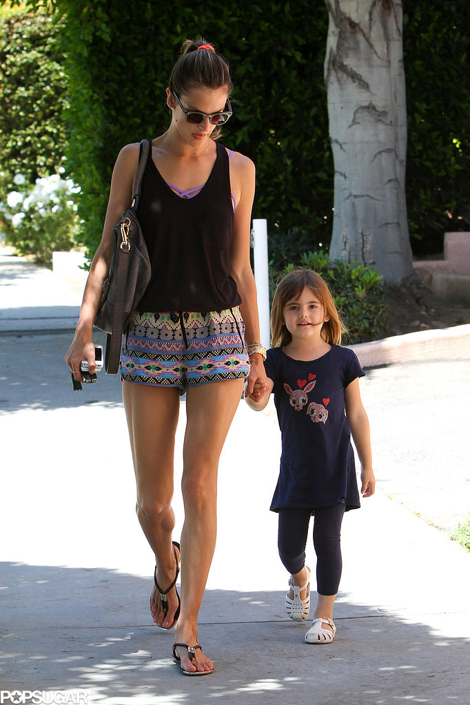 Alessandra Ambrosio and Anja Mazur held hands while walking in LA.