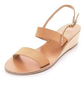 Ancient greek sandals Clio Demi Wedge Sandals
