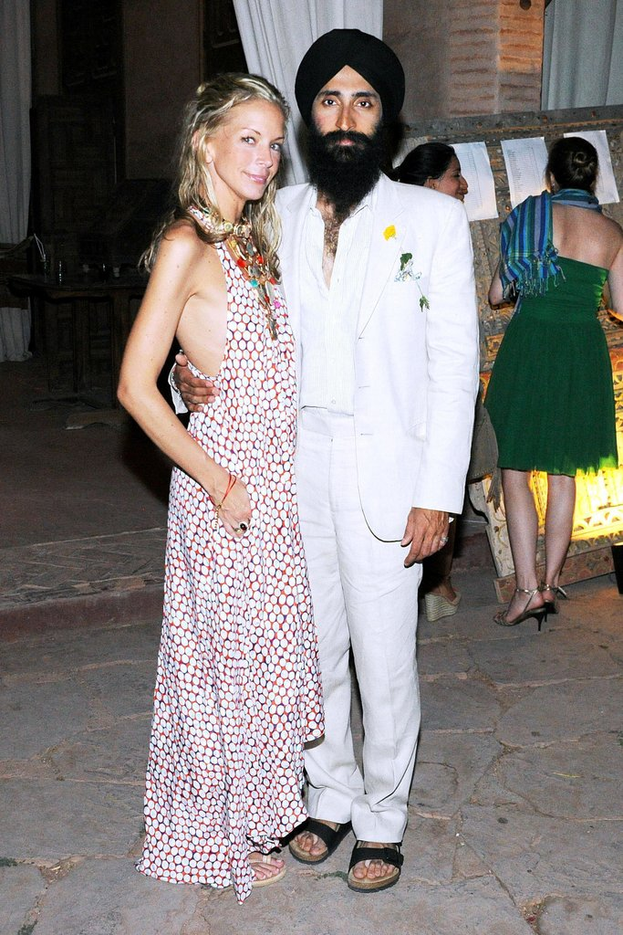 The halter maxi and white suiting spotted on Meredith Melling Burke and Waris Ahluwalia felt perfectly boho-luxe. Source: Billy Farrell/BFAnyc.com