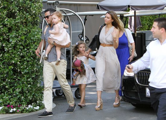 Jessica Alba spent Mother's Day with her family.