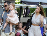 Jessica Alba and her husband, Cash Warren, took their daughters, Honor and Haven, to Mother's Day brunch in LA on Sunday.