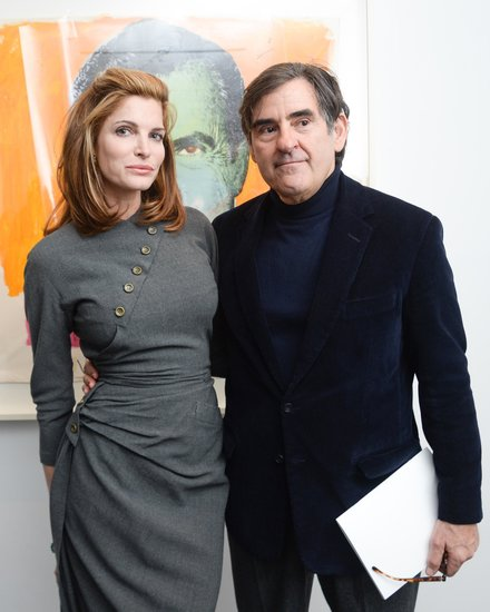 Stephanie Seymour posed with the art center's founder Peter Brant.  Source: Billy Farrell/BFAnyc.com