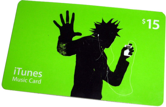 An iTunes Gift Card