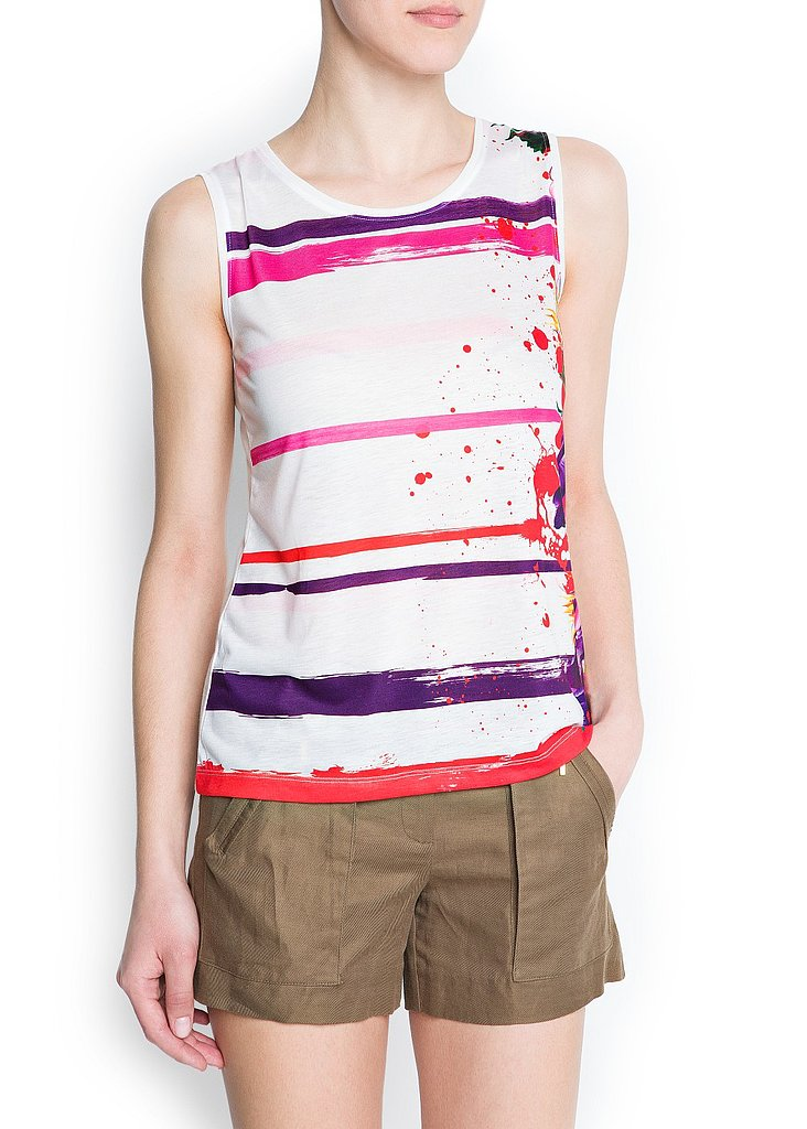 We love how this Mango Paint-Striped T-Shirt ($25) looks when styled with crisp khaki shorts.
