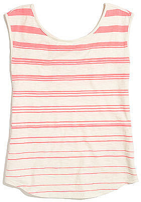 Dainty, salmon-colored stripes are perfect for Summer; we're snapping up this Madewell Striped Boatneck Tank ($42) to wear with high-waisted jeans.