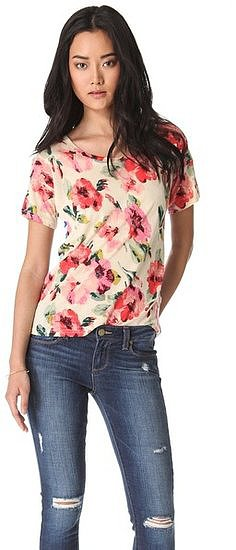 Madewell's Floral and Stripe Tee ($50) has the ideal amount of ease for wearing with distressed jeans during the day.