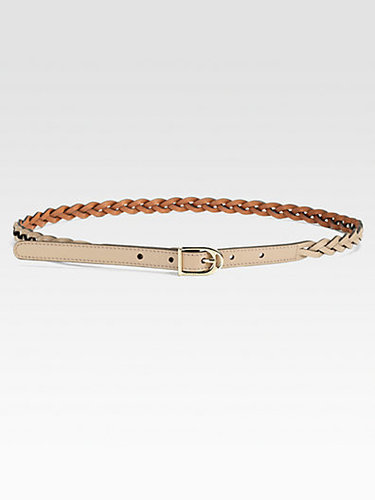 Gucci Selleria Braided Spur Buckle Leather Belt