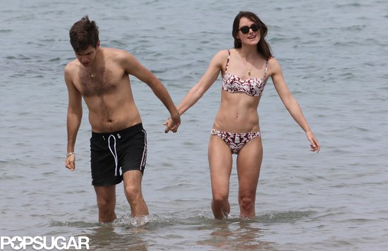 Keira Knightley and James Righton held hands on their honeymoon.