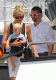 Kate Hudson and Matthew Bellamy bought little Bingham along for a yacht ride in Monaco during June 2012.