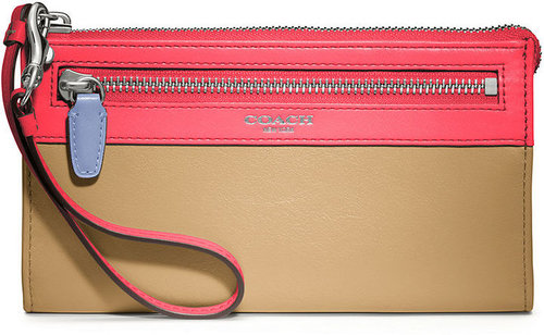 Coach Legacy Colorblock Zippy Wallet