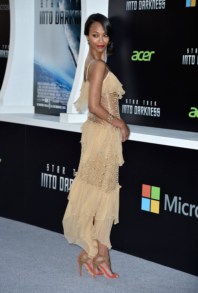 Zoe Saldana at the Star Trek: Into Darkness premiere.