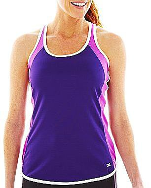 XersionTM Sleeveless Colorblock Mesh Tank