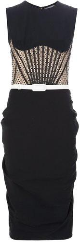 Alexander McQueen corset detail dress