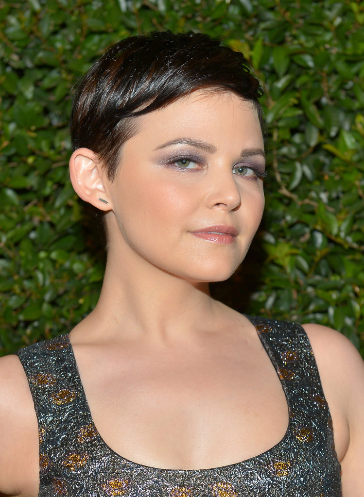 To create Ginnifer Goodwin's lavender smoky eye, makeup artist Mai Quynh applied Shiseido Shimmering Cream Eye Shadow in Ice ($25) from lash line to crease. She then blended the dark and medium purple shadows from YSL Ombres 5 Lumières in 4: Lilac Sky ($58) into the crease and upward before smudging the dark purple along Ginnifer's lower lash line.