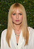 Rachel Zoe stuck to her iconic look: blunt bangs, straight hair, and kohl-rimmed eyes.