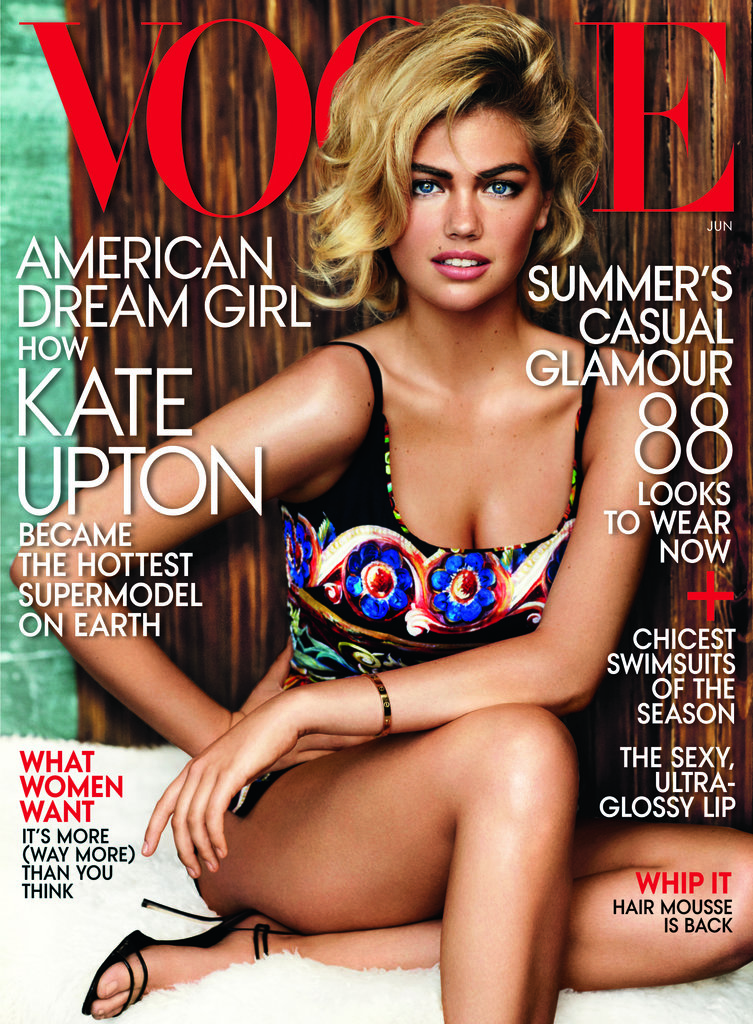Kate Upton covers Vogue's 2013 issue. Source: Mario Testino for Vogue
