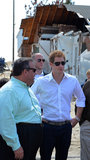 Prince Harry visited the Jersey Shore along with New Jersey Governor Chris Christie.
