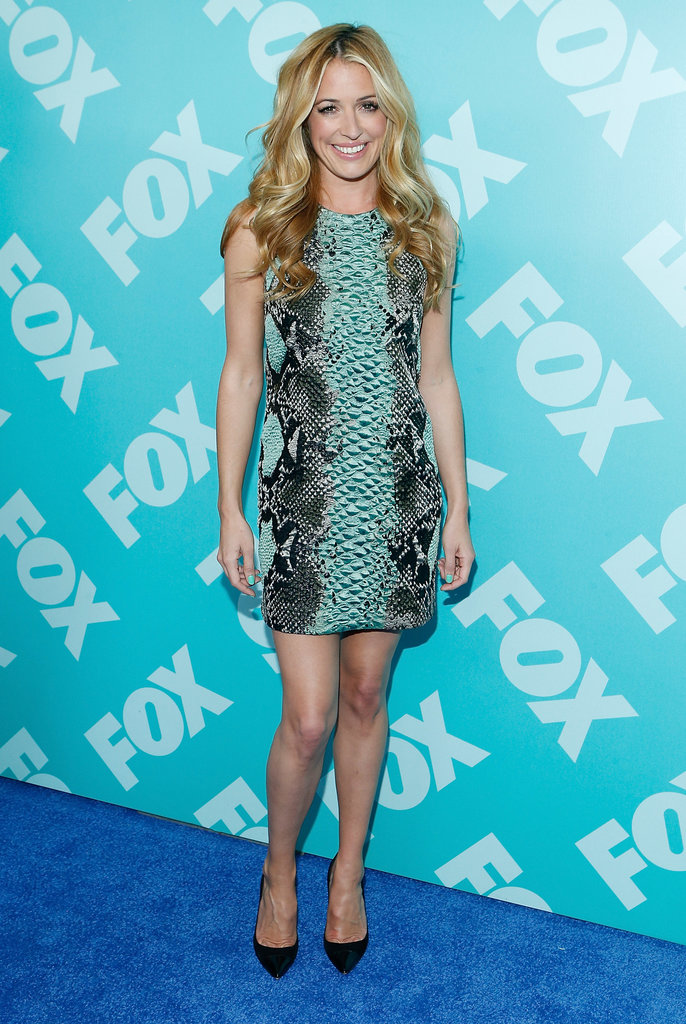 Cat Deeley stepped out on the blue carpet.