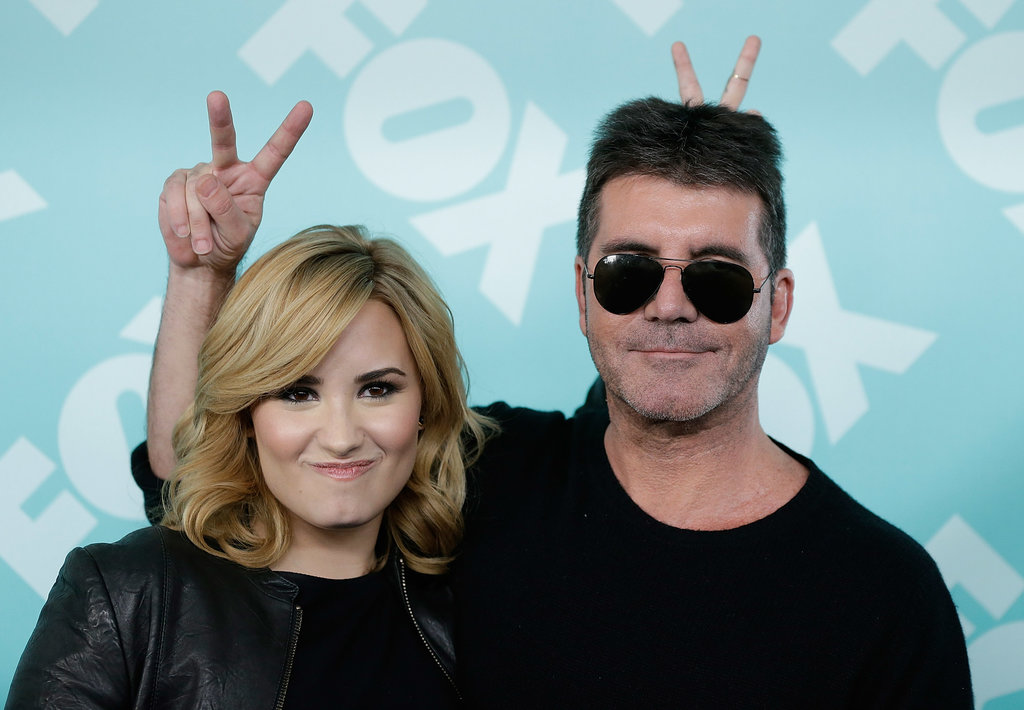 Simon Cowell and Demi Lovato goofed around.