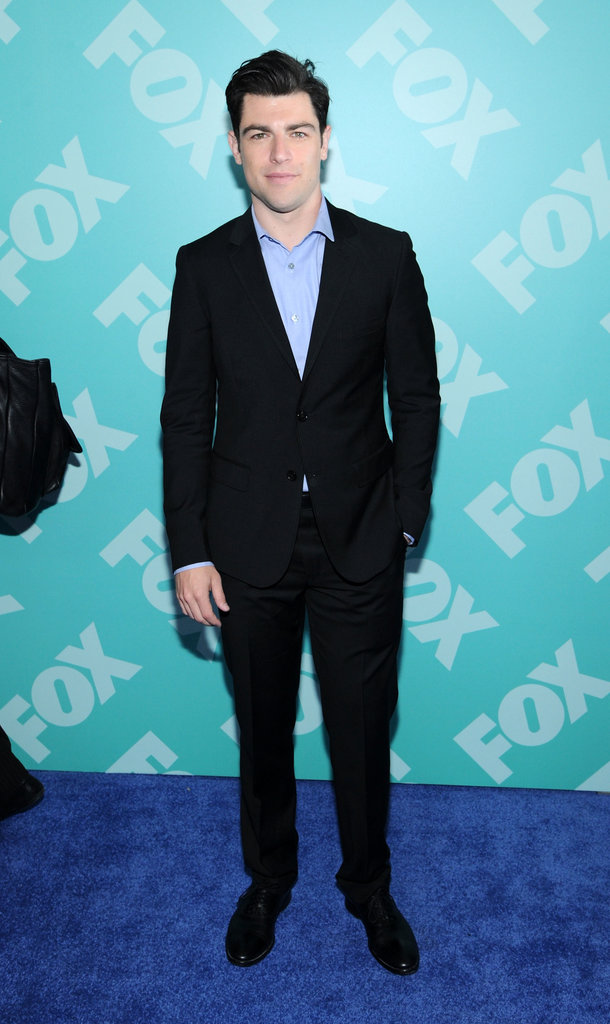 Max Greenfield attended the upfront in NYC.