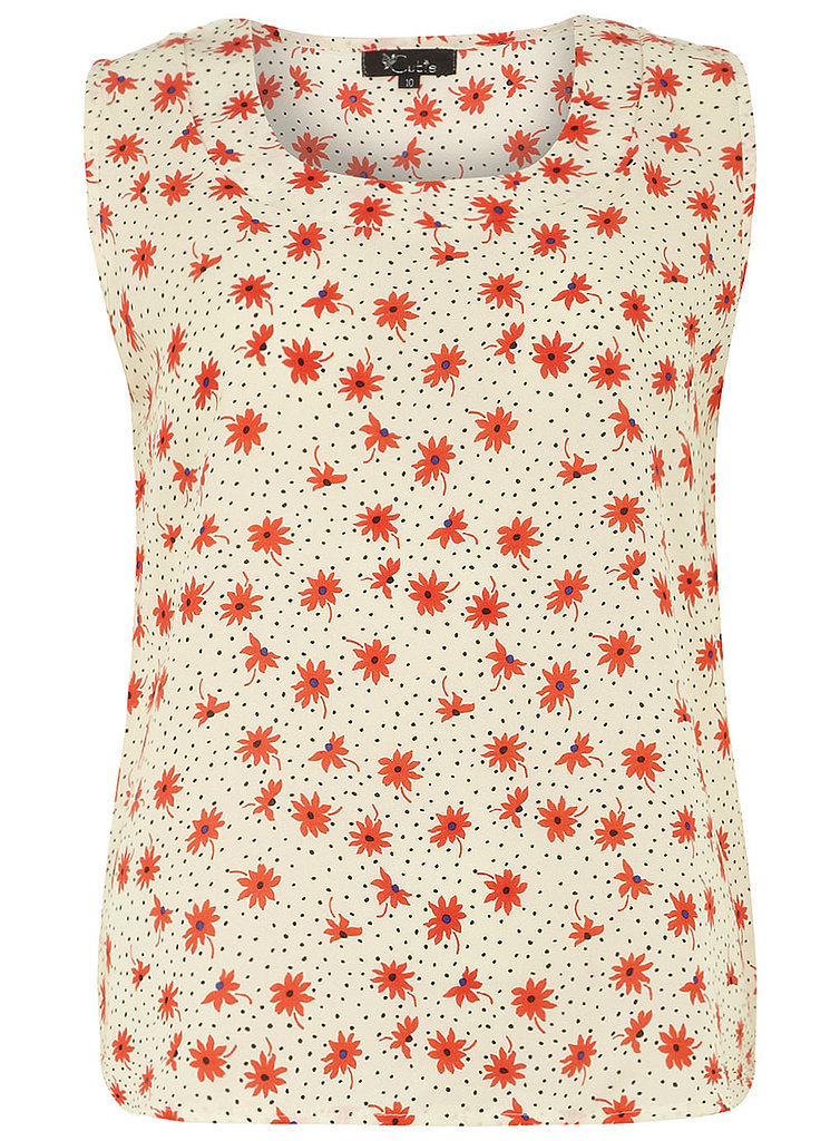 The perfect lightweight printed tank for the office — layer this Dorothy Perkins Flower-Print Top ($35) with a white blazer.