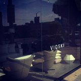 A glimpse of the Vioski storefront showcasing Jeff Vioski's sleek, detailed design aesthetic.