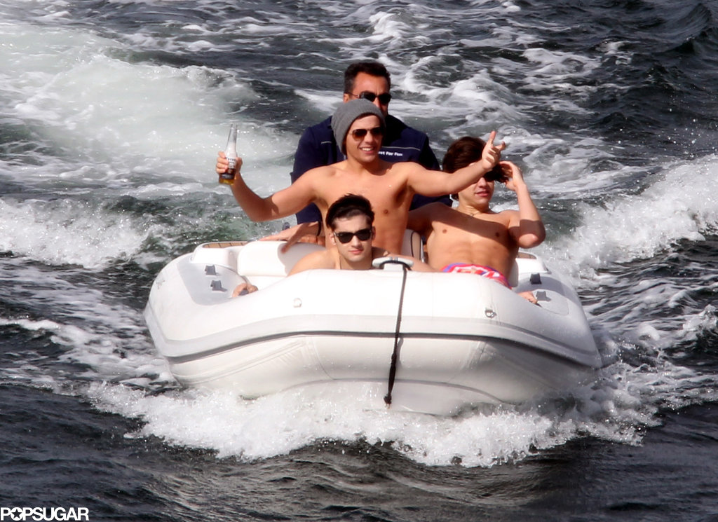 One Direction worked on their tan while visiting Sydney in April 2012.