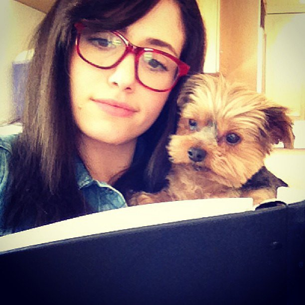 And got a bit of help memorizing lines. Source: Instagram user emmyrossum