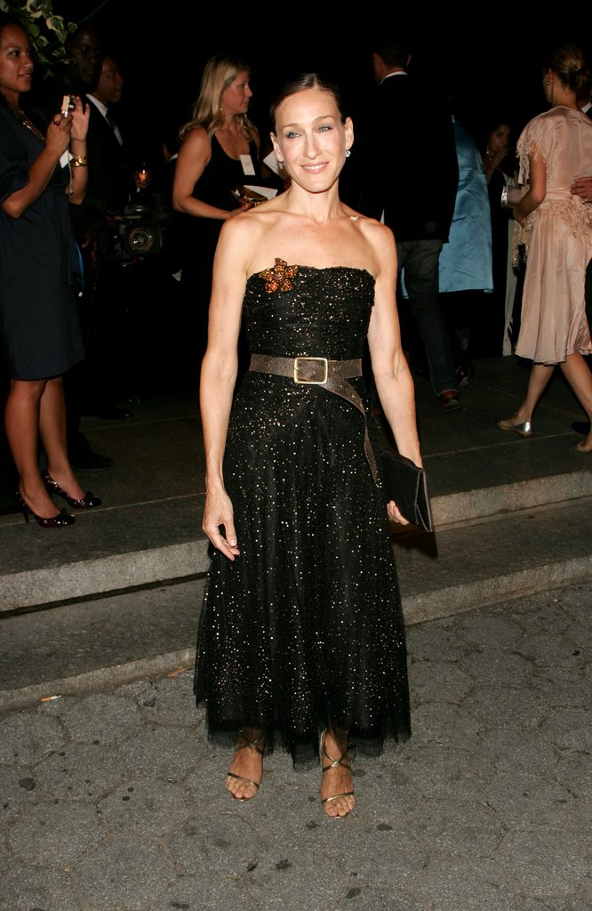Pairing her cinched twinkling tulle dress with dainty sandals, Sarah Jessica Parker had us dreaming of starry Summer nights at a Ralph Lauren event in NYC.