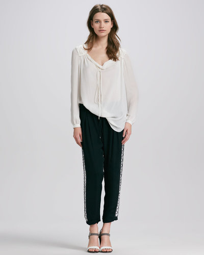Haute Hippie Embellished Tuxedo Trousers