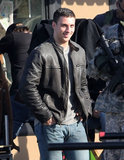 Aaron Taylor-Johnson filmed Godzilla on Wednesday in Vancouver.