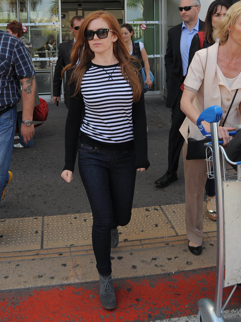 Isla Fisher arrived in Nice, France, on Tuesday for the Cannes Film Festival.